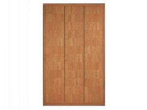 简约原木色衣柜门设计效果图 平开门衣柜图片