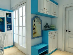 博郡家居 地中海风格 入户柜效果图