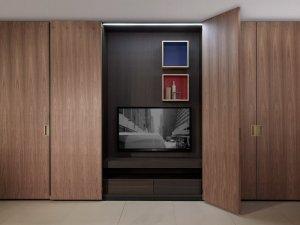 简约自然实木衣柜效果图 卧室大衣柜图片