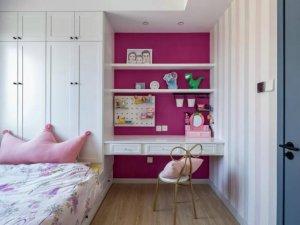 北欧风格儿童房衣柜装修效果图 榻榻米衣柜设计图