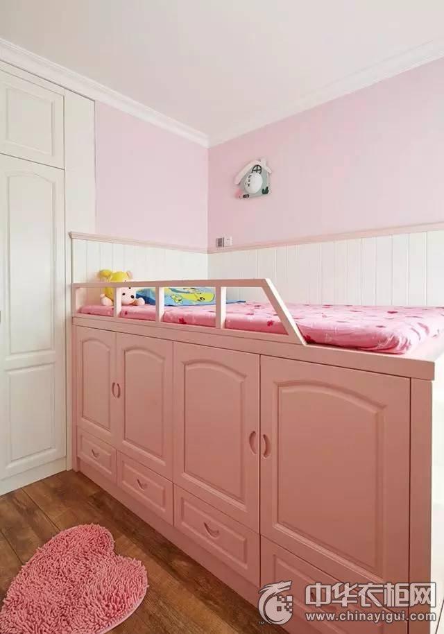美式风格三居室衣柜装修效果图 绿色整体衣柜设计图