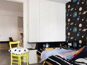 北欧风儿童房装修效果图 小型衣柜设计图