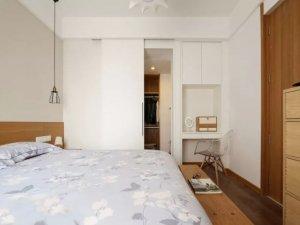 推拉门步入式衣柜内部设计图大全 日式风格卧室设计图