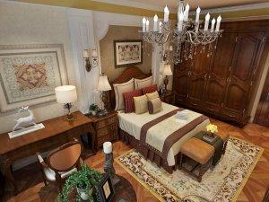 奢华美式家装卧室大衣柜效果图 实木大衣柜设计图