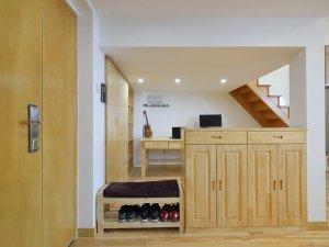 清新日式风格全屋定制系列效果图 原木色衣柜设计图大全
