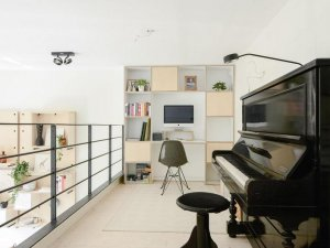 复式小公寓书桌设计效果图 全屋定制设计效果图