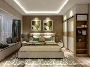 欧派衣柜图片 立方体卧室家具YG61577效果图