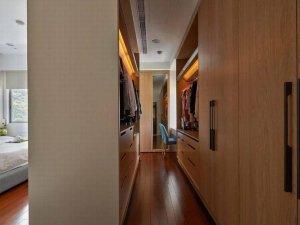 现代简约卧室衣柜设计效果图 步入式开放衣帽间效果图