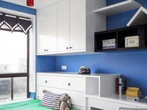儿童房榻榻米衣柜设计图 白色墙柜装修效果图