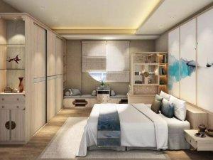 好莱客家居 新中式素璞卧室书房效果图