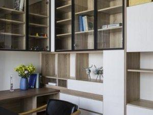 书房书柜整体设计效果图 全屋定制书柜设计图