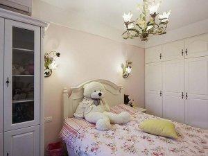儿童房白色衣柜效果图 纯白色儿童衣柜图片
