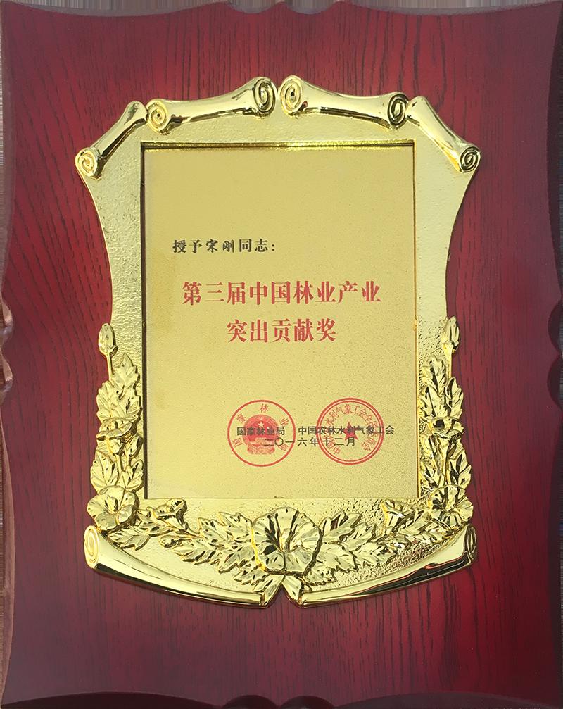 第三届中国林业产业突出贡献奖