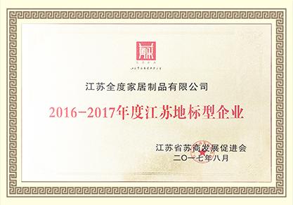 2016-2017年度江苏地标型企业