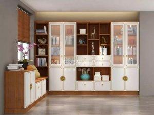 客来福全屋定制图片 书柜设计效果图