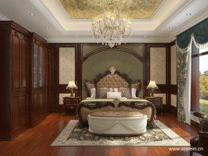 欧派衣柜图片 古典风格卧室家具OPA0001144效果图