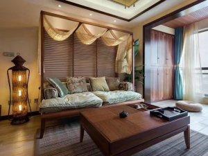 东南亚风衣柜图片 阳台整体衣柜效果图