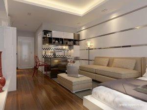 欧派衣柜效果图 时尚精致公寓图片