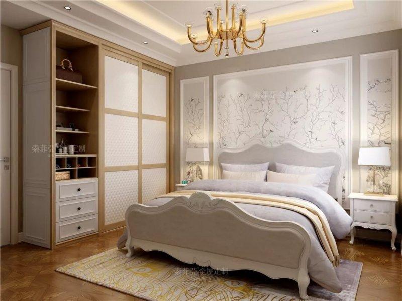 索菲亚全屋定制图片 90㎡2房2厅简欧家装设计