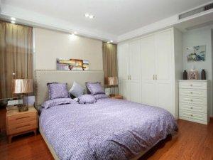 简约白色整体衣柜效果图 实木衣柜平开门图片