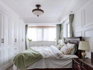 简美风整体衣柜效果图 白色平开门衣柜图片