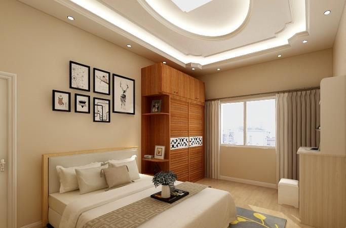 红棉花板材 卧室效果图