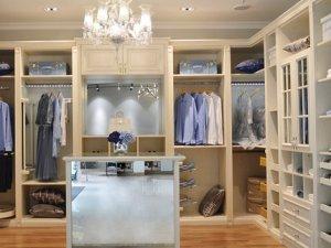 澳都开放式整体衣柜效果图 白色实木衣柜图片
