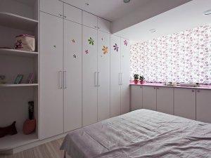 现代风卧室大衣柜图片 白色平开门衣柜效果图
