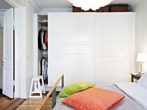 卧室大衣柜图片大全 白色推拉门衣柜图片