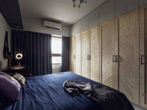 卧室衣柜设计效果图 原木色衣柜门图片