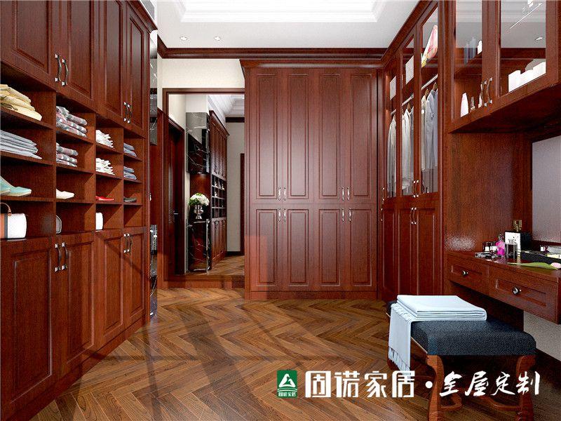 固诺家居图片 美式实木大衣柜图片大全_8