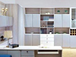 艾瑞卡全屋定制效果图 客厅餐厅酒柜书柜效果图