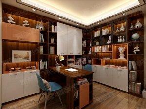 雅丽家衣柜效果图 书房实木书柜图片大全