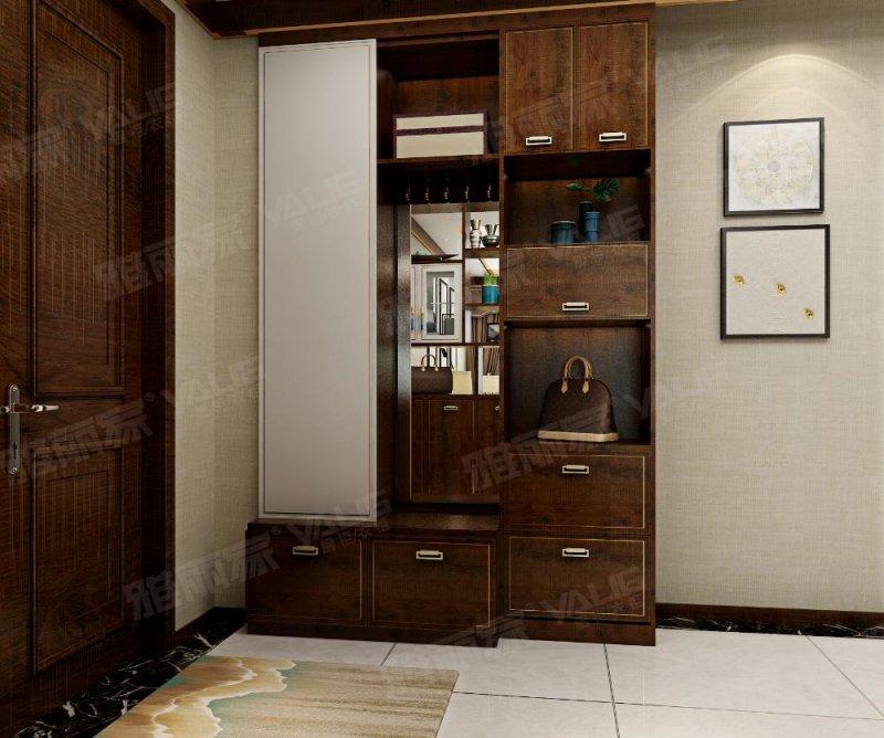 雅丽家衣柜效果图 新中式衣柜图片大全