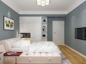 北欧风主卧室衣柜图片 白色移门衣柜门效果图