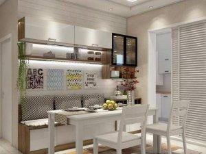 餐厅餐边柜效果图大全 白色开放式酒柜图片
