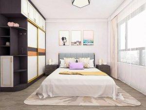 时尚推拉衣柜门图片 白色主卧室衣柜图片