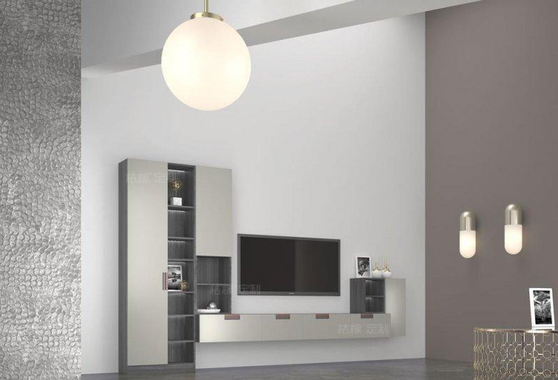 桔檬定制图片 现代轻奢风电视柜效果图 轻派格调系列