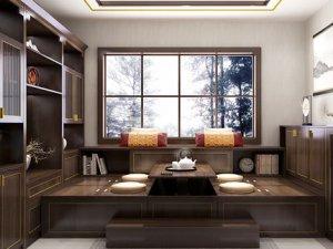 海尔全屋家居效果图 书香门第系列新中式风格衣柜图片