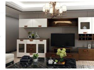 尚美宅配  新中式风格电视柜效果图