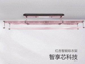 红杏晾衣架  智能电动升降照明消毒基础室内阳台晾衣架晒衣器