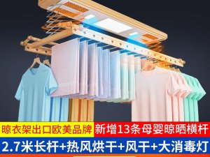邦禾晾衣机  电动晾衣架自动智能遥控晒衣架升降阳台晾衣机产品图