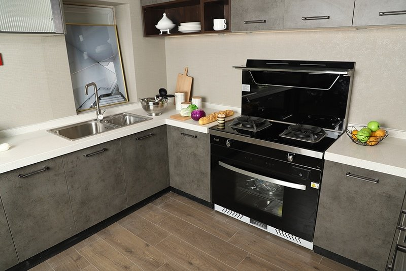 BEHOME佰怡家图片 门口现代厨房实景图