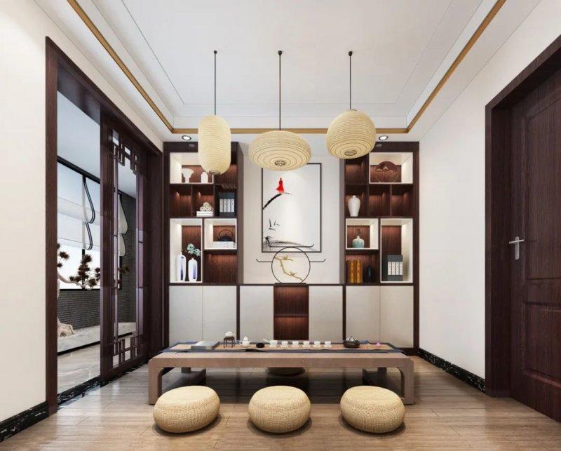 如何在家打造一间专用茶室?全友家居茶室郑州建材市场设计案例