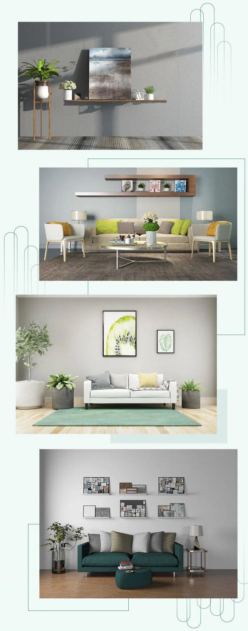 简约风格家装效果图 绿色系家居搭配推荐