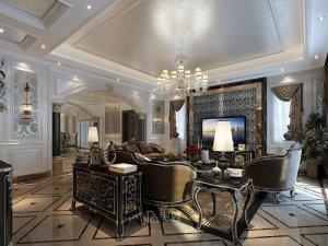 420平别墅项目装修设计 欧美风格案例效果图鉴赏