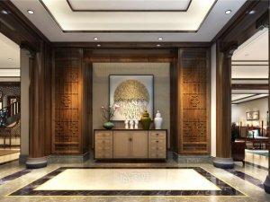 1200平别墅会所设计案例 中式风格装修效果图