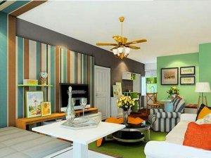 清新灵动田园风格客厅效果图 正适合万物复苏的春季