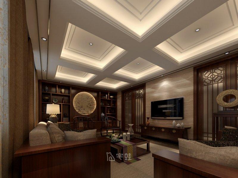 中邦上海城别墅装修图片 中式风格设计效果图