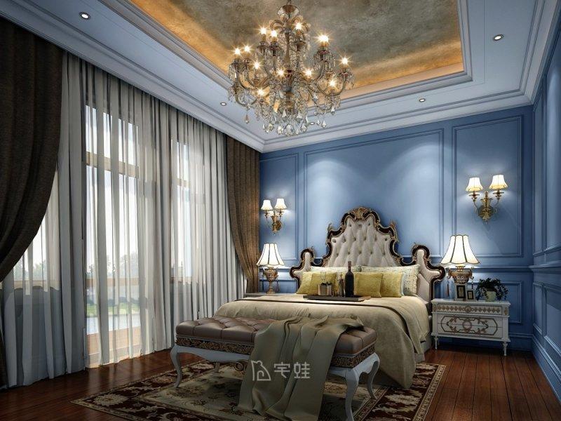 东源丽晶800平别墅项目装修 美式古典风格设计效果图